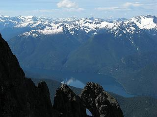 Ross Lake from partway up the rock crest