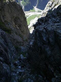 A long way down.