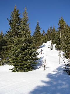 Jack coming off of ridge