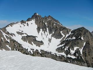 The Cradle south peak seen from the ridge crest