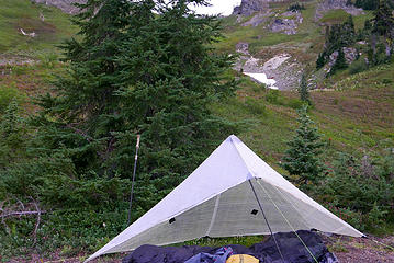 D1.21 bivy site below Little Giant Pass
