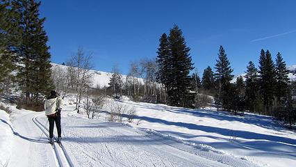skiing sunnyside trail