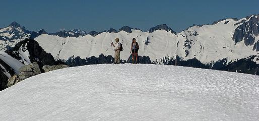 Mike & Erin in front of Backbone Ridge
