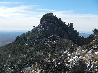 main summit from northeast peak