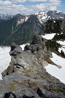 Looking E down the summit ridge