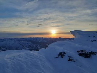The summit cornice