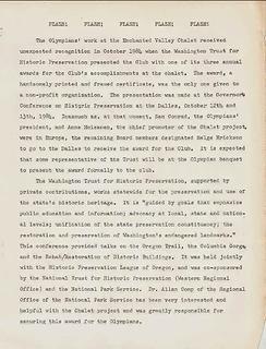 Washington Trust for Historic Preservation 1984 Award