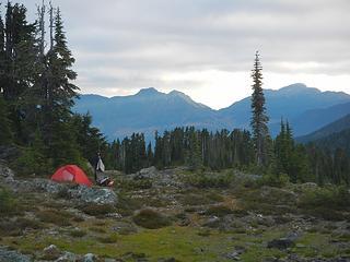 lower Phillips Ridge camp