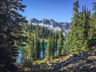 Traversing above Lower Blum Lakes