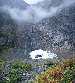 Ice Caves Glacier at the base of the Big Four cliff, September, 2005.