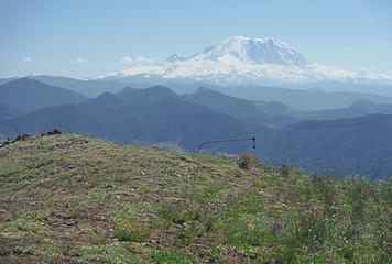 Anchor bolt and Mt. Rainier view