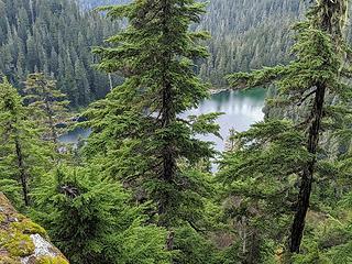 Views down to Marten Lake