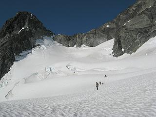 Hiking up the Mary Green Glacier