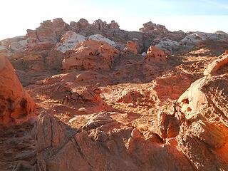 Fire Wash Cliffs summit at center