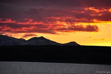 Sunset from Summit Lake, Richardson Highway