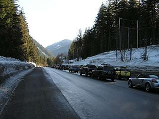 A long wait on Hwy 2 (looking East)