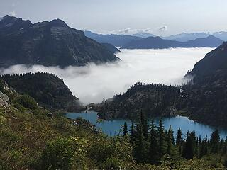 Low cloud deck and Green Lake