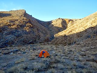 camping in Telephone canyon