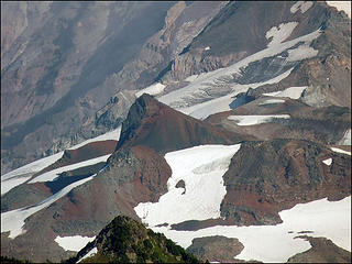 Close Up of Observation Rock, as seen from the trail to Tolmie Lookout, 8.1.09.