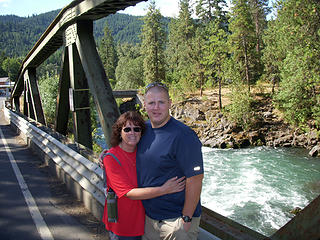 Mom and Todd over White Salmon River