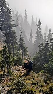 Bryan above the misty forest