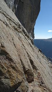 The scary slab traverse