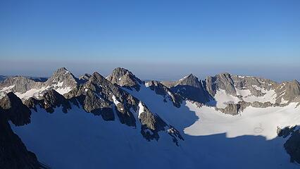 Mammoth Glacier below