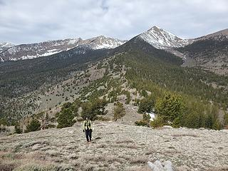 hiking up point 10495'