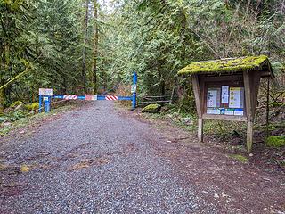 Teneriffe bus turnaround trailhead closure