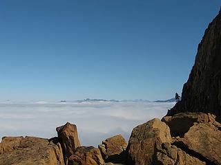 Cloud blanket below