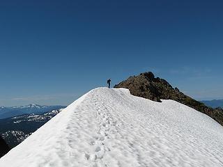 Yana near Bacon summit