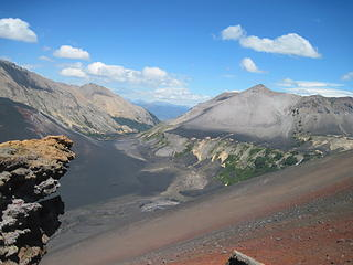 From the summit of the volcano