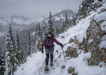 On PCT, Sourdough Gap in back . . .