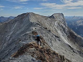 Nearing Sacajawea, looking back to Matterhorn