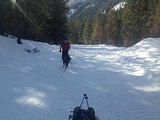 skiing the entiat river road!
