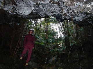 entering the lava tube