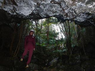 entering the lava tube