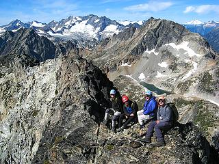 Yana, Dicey, Billie, & Mike on Fisher Summit Ridge