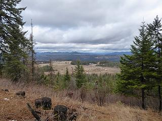 North from Mullan Rd on Shoeffler Butte.