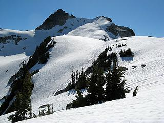 TT summit area; our goal is the lefthand corner of the summit block.