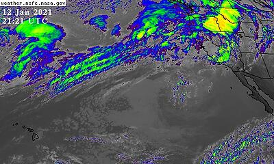 GOES west infrared satellite image 011221 2121 UTC (1328 PST)