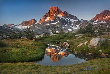 Mt. Banner alpenglow