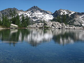 view of Frisco Pk from our lake camp