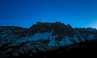 Abernathy Ridge at night