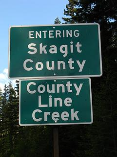 County Line Sign