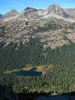 Dagger Lake, Stiletto Lake, & Stiletto from Twisp summit