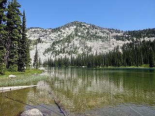 Upper Wind Lake, 7100' and Grave Peak. We will be hiking to the summit.