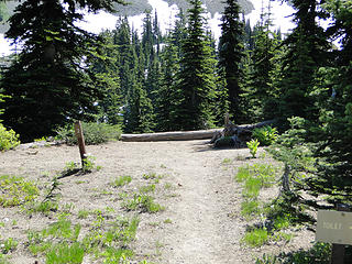 Campsite #2 at upper Crystal Lake.