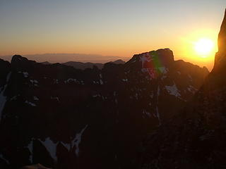 Sunset from our bivy spot.