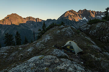 sunset on steel and duckabush from camp